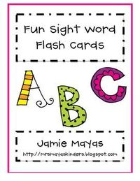 sight words, flash cards and kindergarten sight words.
