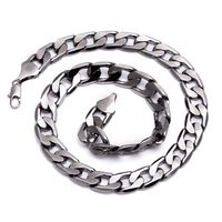 Gunmetal Hematite Plated Solid Curb Chain Necklace £21.95