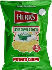 Herr's Sour Scream and Onion Potato Chips
