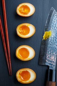 Tasty marinated soft boiled eggs with custard-like yolks that are perfect for ramen or, breakfasts, snacks, lunches, salads, etc.
