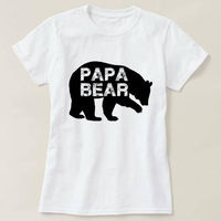 Papa Bear Shirt, Papa Bear T-shirt, Men's Crewneck Shirt, Gift for Dad, Father's Day Gift, Father's Day Shirt, Valentine Gift $14.50