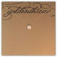 initials necklace, rose gold and white gold.