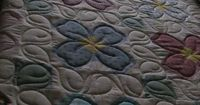Simple quilting on a pretty flower quilt...