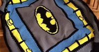 Batman Crochet Blanket by VictoriaRose83 | Crocheting Pattern - Looking for your next project? You're going to love Batman Crochet Blanket by designer VictoriaRose83. - via