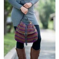 This is an awesome functional purse. Imagine all of the color combinations you could make it in. A very simple pattern. Perspective Crocheted Purse Pattern $2.75 | InterweaveStore.com