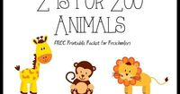 Free letter z printables in this Z is for Zoo Animals packet.