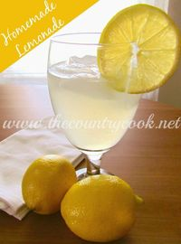 The Country Cook: Secret Ingredient Homemade Lemonade