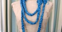 SALE Blue Lagoon rope braided necklace by urbanknitfits on Etsy