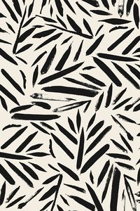 Not So Black and White Leaves by crystal walen. Cream and black plant forms on fabric, wallpaper, and gift wrap. Beautiful abstract plants in an abstract painterly style.
