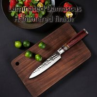 "Chef knife vg10 Laminated Damascus Steel kitchen knives 5.1"" Utility knife $66.20"