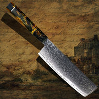 Chef Knife Clad Steel Cleaver Japanese Nakiri Blade shape Vegetables Kitchen Knife Home Cooking Tool $65.10