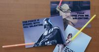 YES! Glow bracelets tucked into printable cards (doc available at link) makes a trio of fantastic Star Wars Valentines for kids, nerds and nerdy kids alike. I love them so much, I won't gripe about light saber color accuracy (and in doing ...
