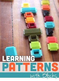 Take learning patterns to the next level by simple pattern setups of blocks. A pattern activity easy to do at home with what you have!
