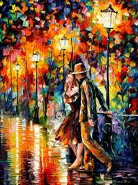 "Tempter �€"" PALETTE KNIFE Oil Painting On Canvas By Leonid Afremov"