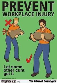 Prevent workplace injury funny guide
