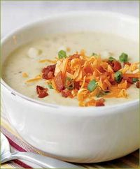 This is real comfort food, not diet food! The flavors of the creamy sauce with the baked potatoes are married together so well that it's hard to put down. I prefer to put the crumbled bacon and cheese on top of the soup because it adds another layer o...