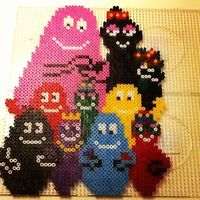 Barbapapa family hama perler beads by ialee89