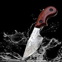 Outdoor Camping Knife Hunting Knife Home Travel Tool Fixed Blade Pocket Knives Leather Scabbard $119.00