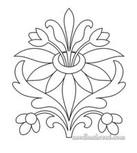This is the final of three hand embroidery patterns that have been occupying my imagination lately. The first of the three was this Exuberant Flower design, and