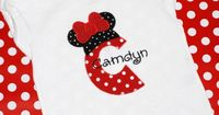 Girls personalized birthday Disey minnie mickey mouse by LUSKER29, $21.00