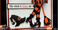 stamps: Witch is Always In Greeting, Icicles, Empty Spider Web paper: white, orange, black (the usual Halloween colors, lol) ink: Ancient Page coal accessories: Tombow orange & black markers, Quickutz Witch Kit die, button, sm corner rounder, ...