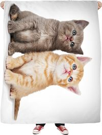 Love of Cats Fleece Blanket $65.00