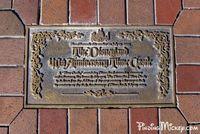 """On July 17, 1995 a """"Time Castle"""" containing Disneyland memories, messages and milestones was buried in front of Sleeping Beauty's Castle. To be opened Disneyland's 80th anniversary, July 17, 2035."""