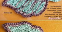 "#Crochet #Tutorial - ""Exceptional crocheted leaf with wonderful detail. Site is in Russian. Chart is a little sketchy, but it gives some ideas about reconstructing this leaf."" comment via #KnittingGuru"