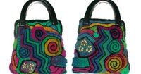 Renate Kirkpatrick shares great colorful freeform crochet bags.