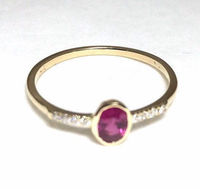0,41 carat natural ruby diamond and gold ring stackable and solo solitaire < #jewelry #oneofkind #specialorder #customize #honest #integrity #diamond #gold #rings #weddingband #anniversary #finejewelry #salknight