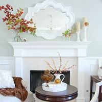 Fall Mantel from BHG