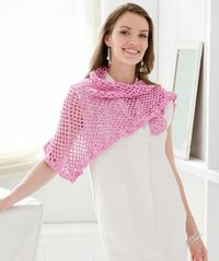 Summer Day's Shawl Free Crochet Pattern from Aunt Lydia's Crochet Thread