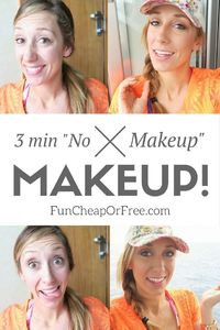 Here's my no-fail no makeup makeup! It only takes 3 minutes and a handful of products, perfect for vacation, the pool, or everyday mom life!