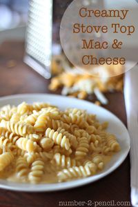 no. 2 pencil: Creamy Stove Top Mac and Cheese - wow. I want this right now!