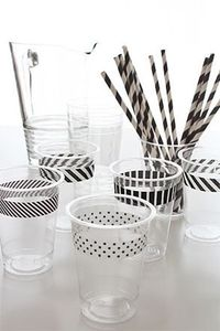 Washi tape on party cups #DIY