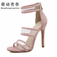 2017New Women Pumps Brand High Heels Cut Outs Open Toe Party Shoes Woman Gladiator Sandals Women Sexy Ladies Sandals