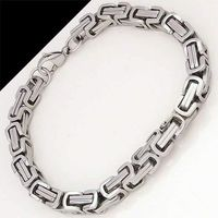 Stainless Steel Punk Chain Link Bracelets $10.00