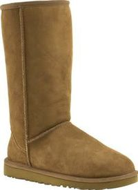UGG australia Tan Classic Tall Womens Boots The Classic Tall boot for women features lavish twin-faced sheepskin for utmost comfort. Precision craftsmanship is evident in the reinforced heel, raw seams and signature UGG heel label. Best worn wi http://www...