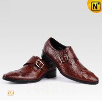 CWMALLS® London Embossed Monk Strap Leather Loafers CW707501 [Original Design, Personalized Gift]
