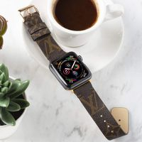 Handmade Apple Watch Band Re-Purposed Classic Brown LV Monogram for Apple Watch Series 1, 2, 3, 4, 5 $125.00