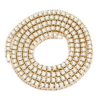 GOLD-PLATED ROUND PHARAOH CHAIN WITH BLING (1 ROW) (6MM) Special Features: Jeweller-quality chain rivals Dimensions: Length : 30 inches, Width : 6mm