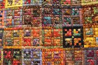 Detail of batik quilt by Freida Oxenham at Pacific International Quilt Festival