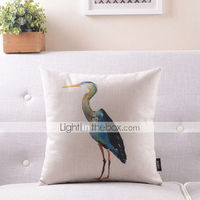 Animal Pattern Cotton/Linen Decorative Pillow Cover