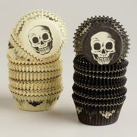 baking cups, baking and skulls.