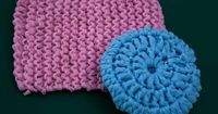 Directions for Knitting Pot Scrubbers Out of Nylon Netting
