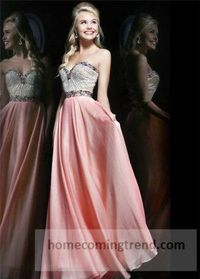 Pink Beading Long Prom Dresses For Cheap