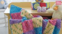 Learn how to make a Baby Color Block Blanket using techniques not mentioned in this free pattern.