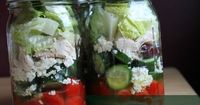 I can't believe how much I love making mason jar salads. Seriously! When I first discovered them on pinterest I thought it was just another cute food thing. But