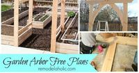 See how easy it is to make your own vegetable garden arbor for your yard!