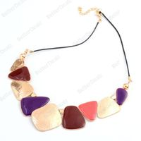 Colorful geometric patterns Necklace
